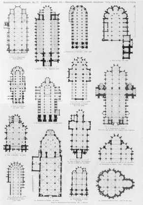 German church floor plans gothic architecture print for Print architectural plans