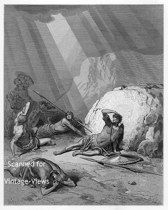 CONVERSION OF ST PAUL - 1870 Dore Bible Engraving