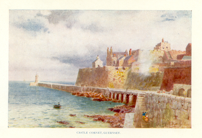 Castle Cornet, Guernsey The Channel Islands Color Print