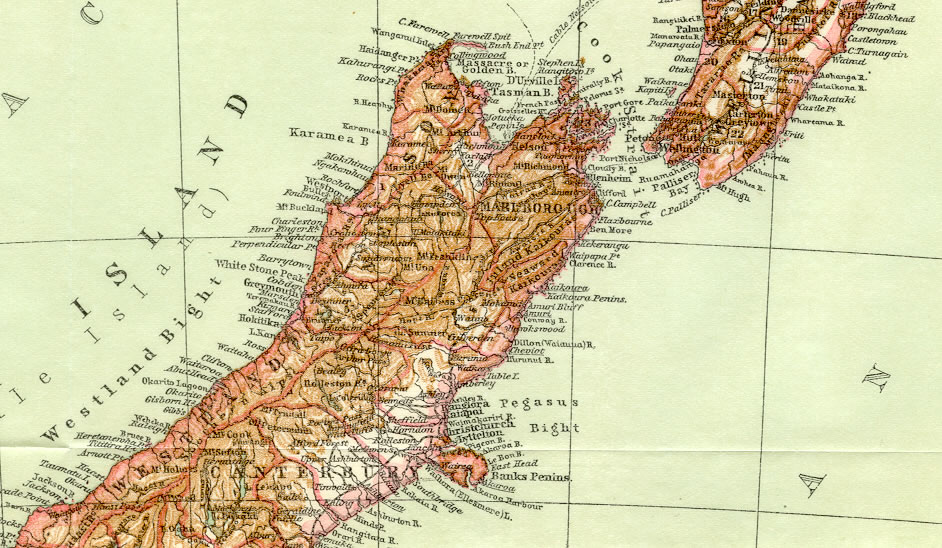 NEW ZEALAND,Stewart Island,Historical Vintage Map