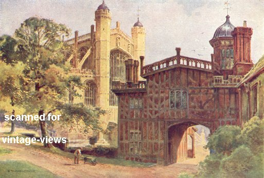 THE HORSE-SHOE CLOISTERS AND ST. GEORGE'S CHAPEL