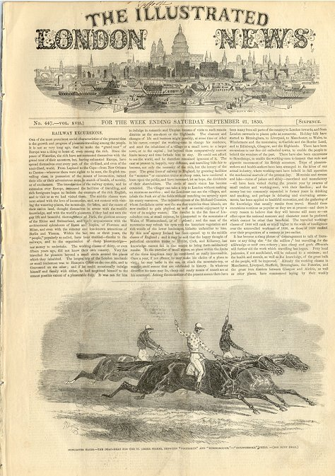 Illustrated London News September 21, 1850