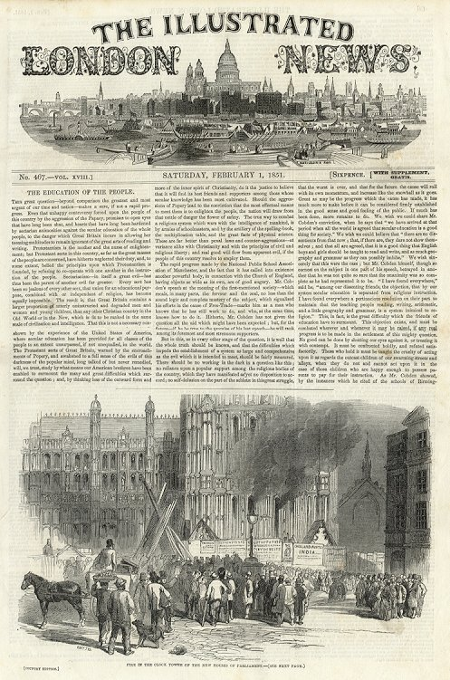 Illustrated London News  February 1, 1851