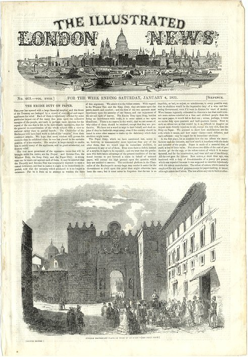 Illustrated London News  January 4, 1851