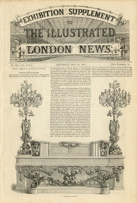 Illustrated London News  May 31, 1851
