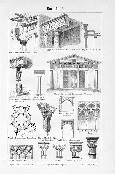 ARCHITECTURAL STYLES,MOORISH BLINDARCHES, MOORISH CAPITALS ...