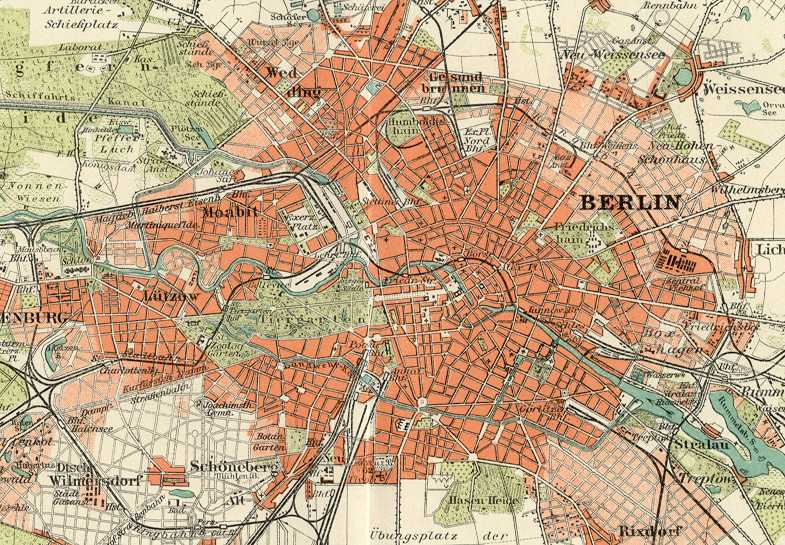 vintage berlin approximate image size 10 x 8 inches poster