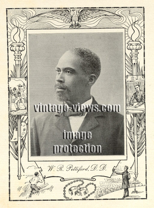REVEREND WILLIAM R. PETTIFORD, 1902 African American Portrait Print, Negro Genealogy