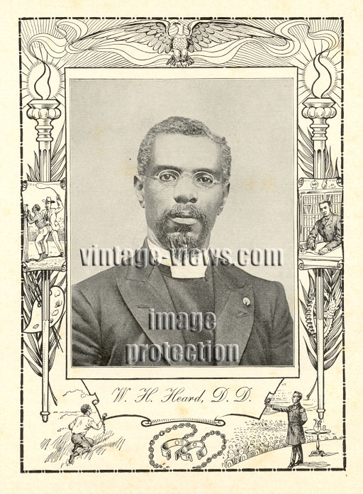 DR. WILLIAM H. HEARD, 1902 African American Portrait Print, Negro Genealogy