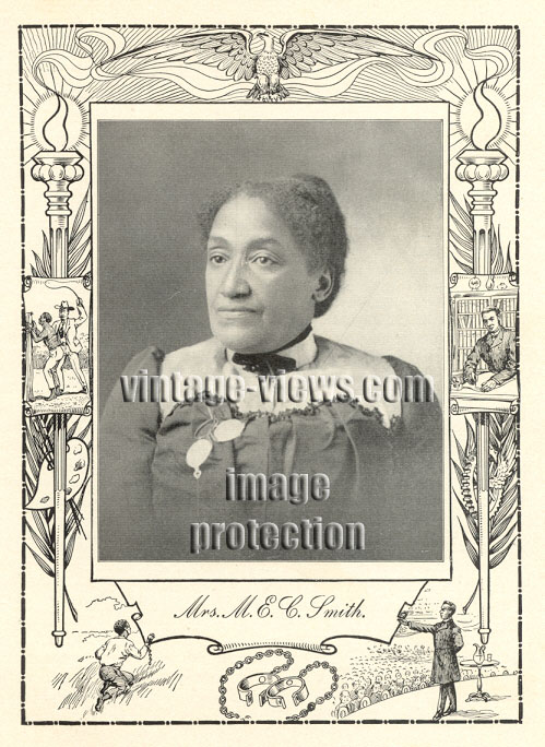 MRS MARY E.C. SMITH, Negro Genealogy, 1902 African American Portrait Print