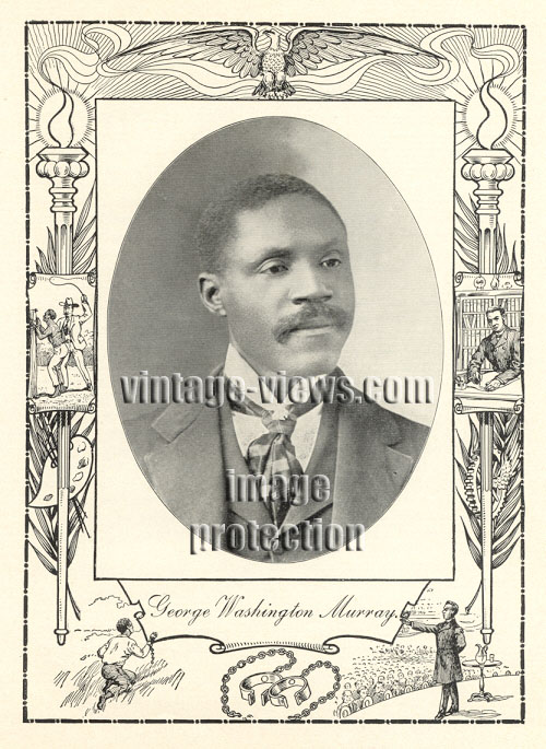 GEORGE WASHINGTON MURRAY, Negro Genealogy, 1902 African American Portrait Print