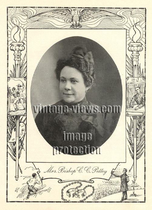 MRS SARAH DUDLEY PETTEY, Negro Genealogy, 1902 African American Portrait Print