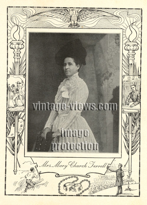 MRS MARY CHURCH TERRELL, Negro Genealogy, 1902 African American Portrait Print