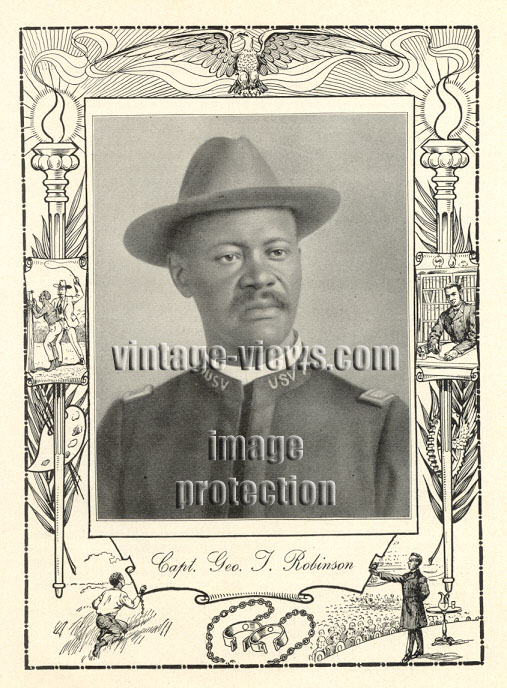 CAPTAIN GEORGE THOMAS ROBINSON, 1902 African American Portrait Print, Negro Genealogy