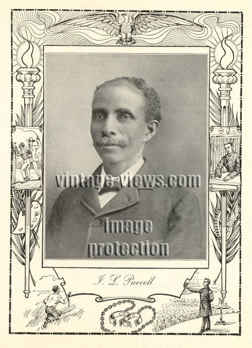 ISSAC LAWRENCE PURCELL, Negro Genealogy, 1902 African American Portrait Print
