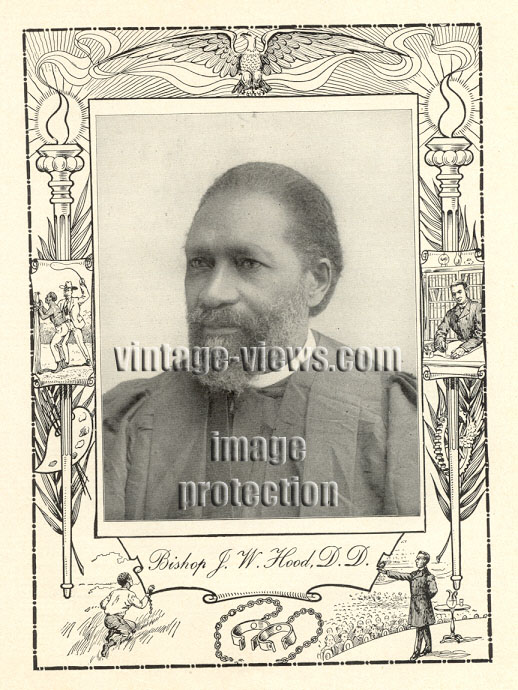 BISHOP JAMES WALKER HOOD, Negro Genealogy, 1902 African American Portrait Print