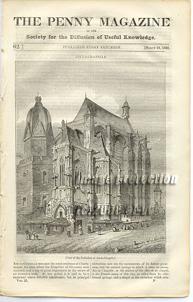 Cathedral of Aix-La-Chapelle 1833 Penny Magazine
