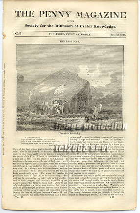 Bass Rock, Abbey Church Bath 1833 SDUK Penny Magazine