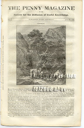 Fountain Tintern Abbey 1833 SDUK Penny Magazine