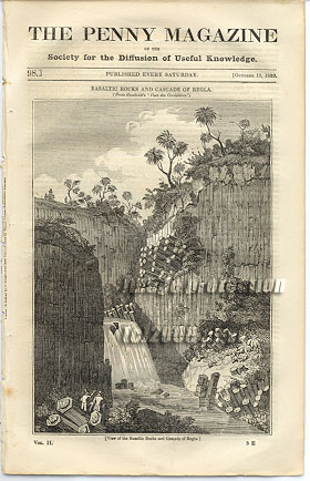 Cascade Of Regla, Wild Boar Hunting,1833 Magazine