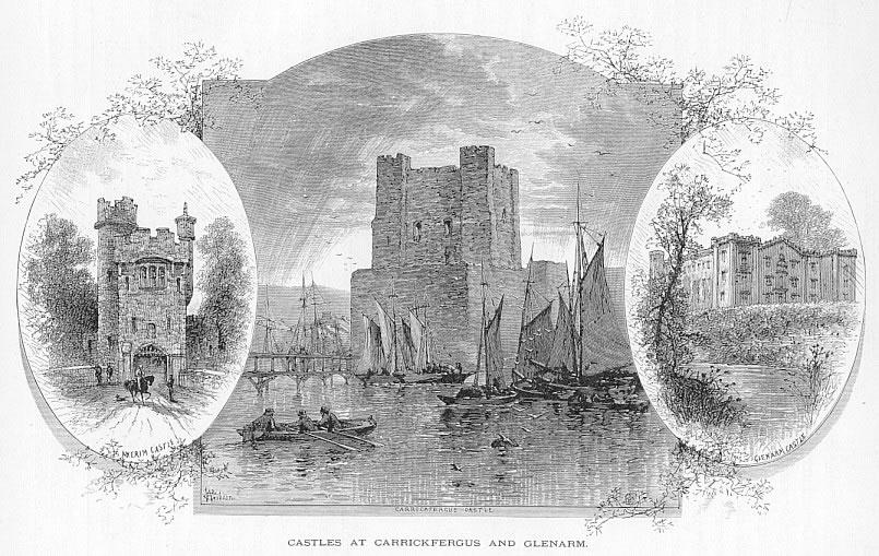 CARRICKFERGUS and GLENARM CASTLE Antrim County Ireland