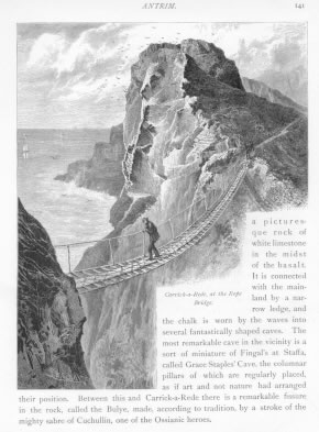 CARRICK-A-REDE AT THE ROPE BRIDGE Antrim County Ireland