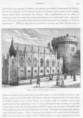 CHAPEL ROYAL AND BIRMINGHAM TOWER IN DUBLIN CASTLE