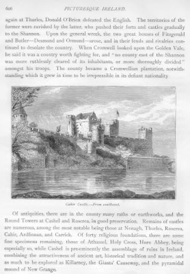 CAHIR CASTLE FROM SOUTHEAST Tipperary County Ireland
