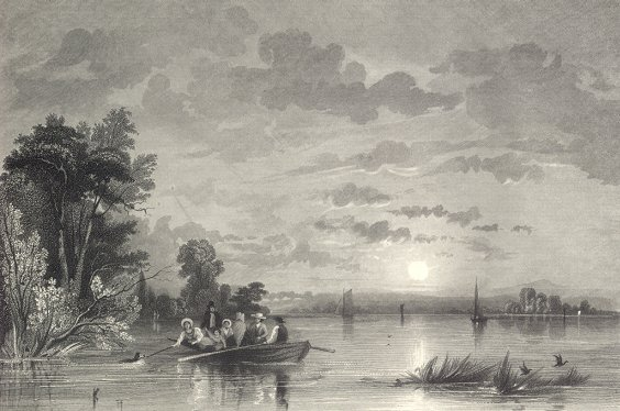QUAKERS ROWING ON THE SCHUYLKILL,PA,1878 Print