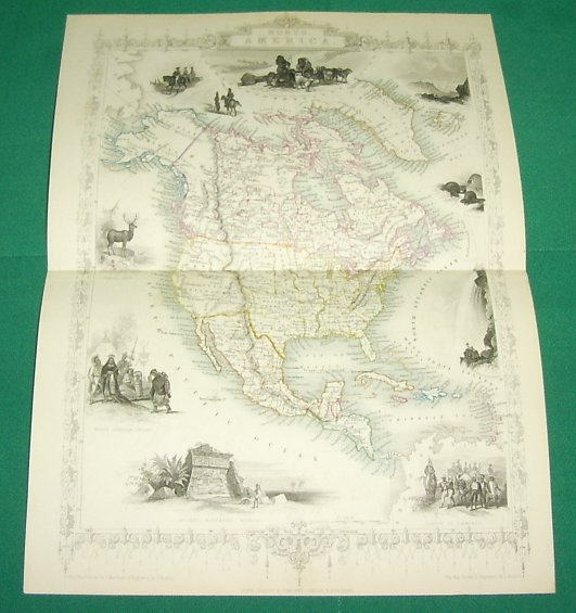 ca. 1850 Tallis Map - NORTH AMERICA