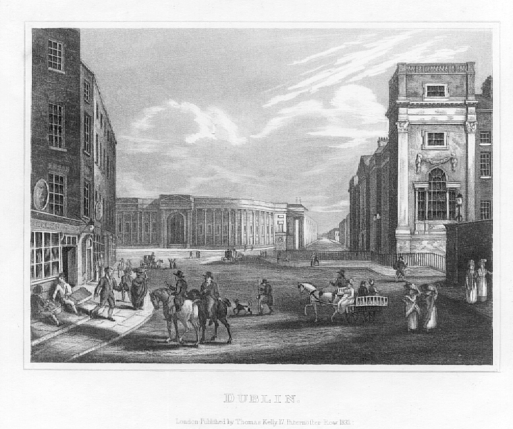 DUBLIN,IRELAND,City View,1832 Antique Print