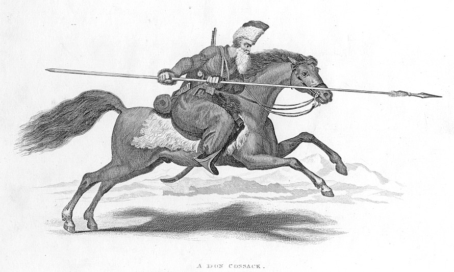 A DON COSSACK,1835 Historical Antique Print