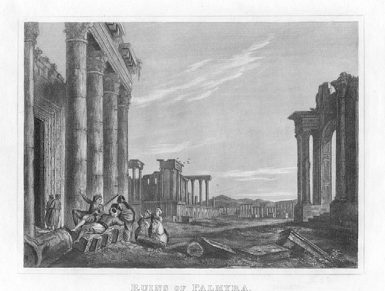 RUINS OF PALMYRA,1832 Historical Antique Print
